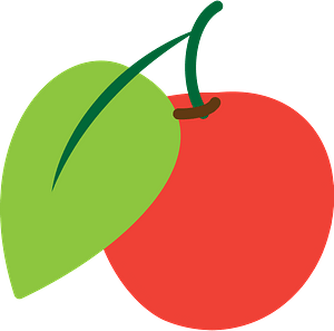 Red cherry clipart