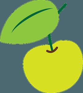 Yellow cherry clipart