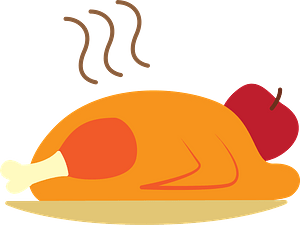 Roasted turkey clipart