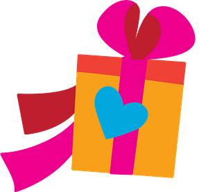 Christmas gift clipart
