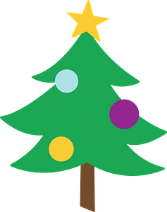 Christmas tree clipart