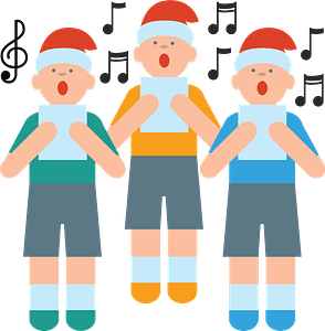 Christmas carolers clipart