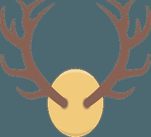 Deer antlers clipart