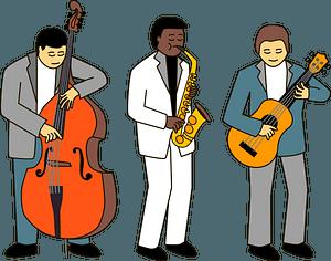 Jazz musicians clipart