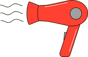 Hair dryer clipart