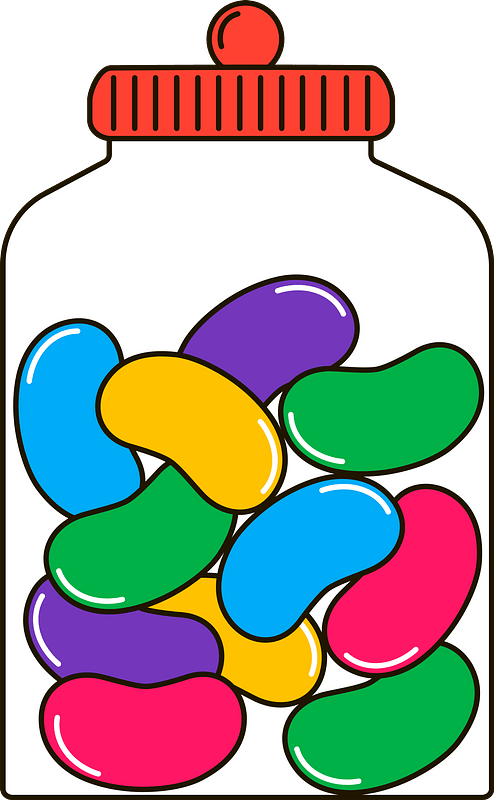 Jelly beans clipart