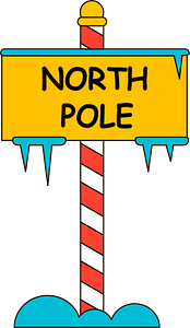 North pole sign clipart