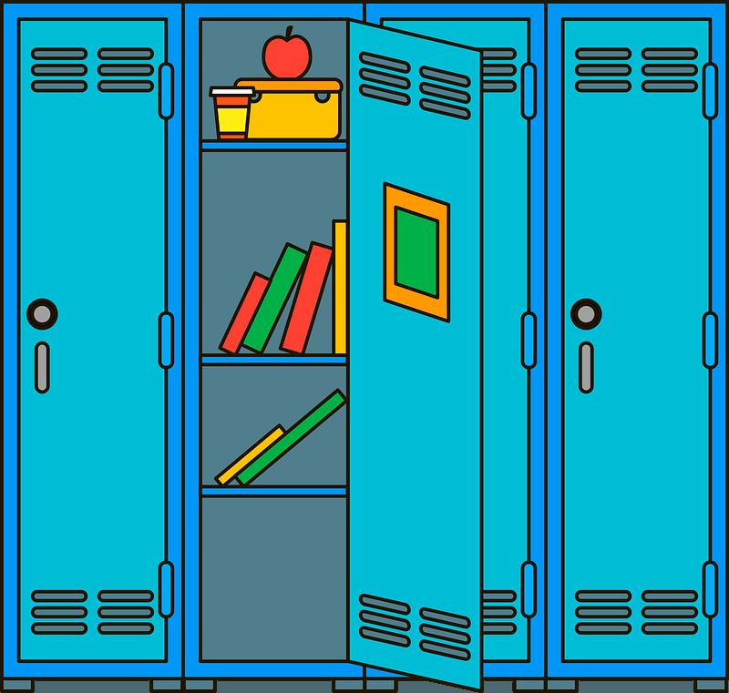 School locker clipart