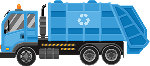 Garbage truck clipart
