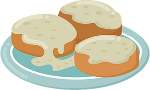 Biscuits and gravy clipart