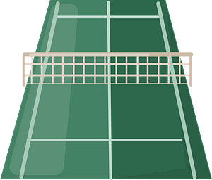 Tennis court clipart