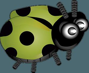 Green ladybug clipart
