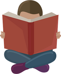 Silent reading clipart
