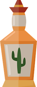 Tequila bottle clipart
