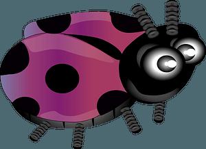 Purple ladybug clipart