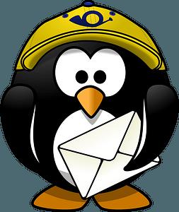 Postman penguin clipart