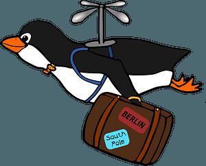 Migrating penguin clipart