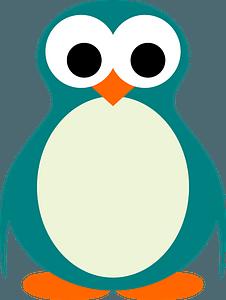 Turquoise penguin clipart