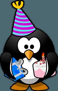 Birthday penguin clipart