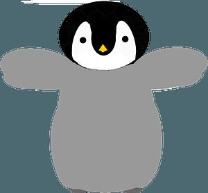 Cute little penguin clipart
