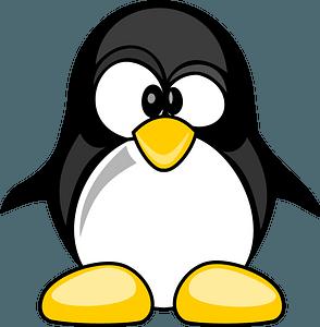 Funny penguin clipart