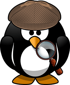 Detective penguin clipart