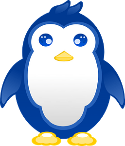 Blue penguin clipart