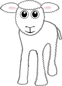 Cute sheep clipart