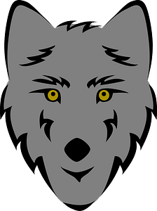Wolf face clipart