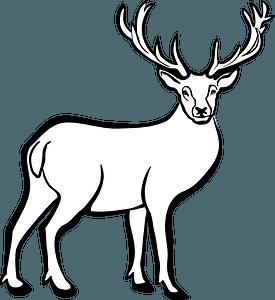 Deer - Black and White 클립 아트