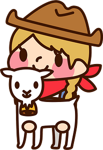 (Sally) Cowgirl with goat clipart