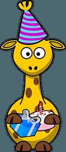 Birthday giraffe clipart