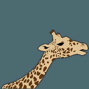 Giraffe head 클립 아트