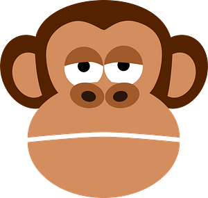 Monkey face clipart