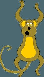 Playful monkey clipart