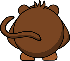 Cartoon monkey back clipart