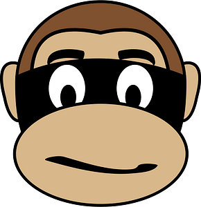 Monkey criminal face clipart