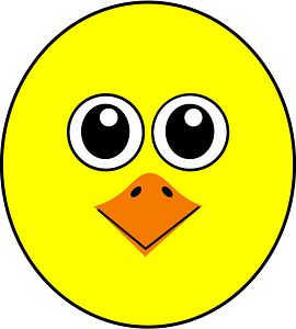 Funny chick face clipart