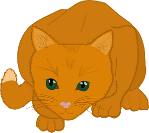 Kitten hunting clipart
