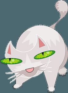 Green-eyed cat clipart