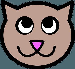 Cute cat face 클립 아트