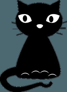Cartoon black cat clipart