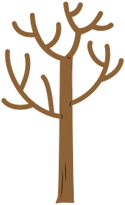 Tree no leaves clipart