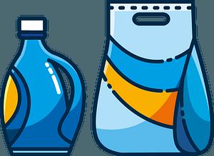 Fabric softener and washing powder clipart