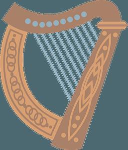 Celtic harp clipart