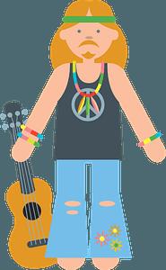 Hippie clipart