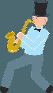 Jazz band musician clipart