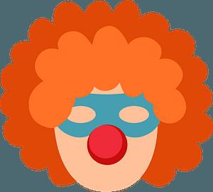 Clown wig clipart