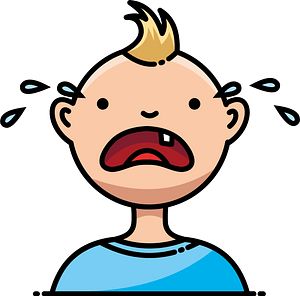 Baby crying clipart