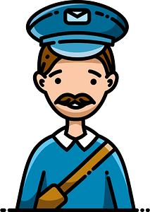 Postman clipart